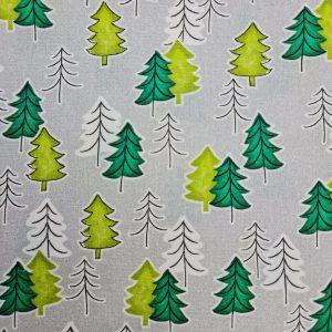 Coton sapins thème Noël
