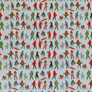 Coton thème shopping de Noël