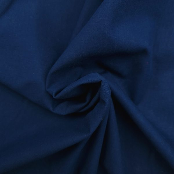 coton uni, bleu marine, bleu nuit