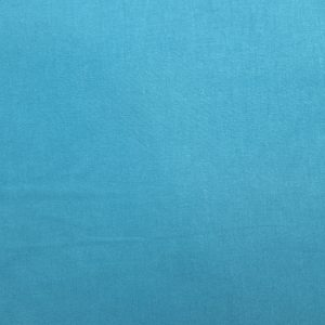 Coton uni bleu paon