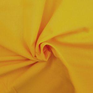 Coton uni jaune bouton d'or