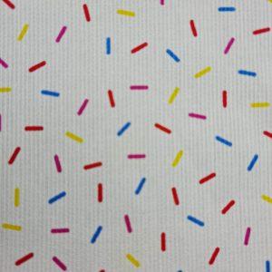 Piqué de coton confettis multicolores