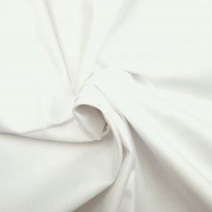 Popeline de coton bio unie blanche