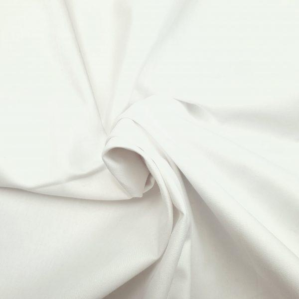 coton, bio, uni, léger, blanc