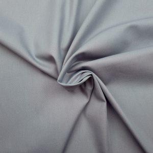 Popeline de coton bio uni gris
