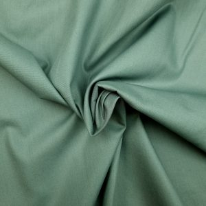 Popeline de coton bio uni vert amande