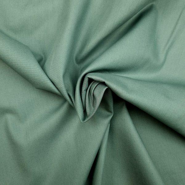 coton, bio, uni, vert grisé, léger