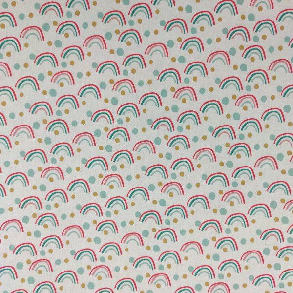 coton, dessin, enfant, arc-en-ciel, blanc, rouge, bleu, vert