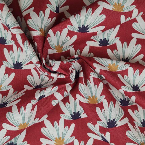 coton, fleurie, rouge, blanc, jaune, bleu