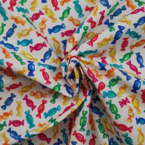 Coton imprimé motif bonbons