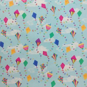 Coton imprimé motif cerfs-volants