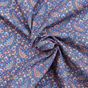 Coton imprimé motif cachemire