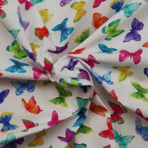Coton imprimé papillons