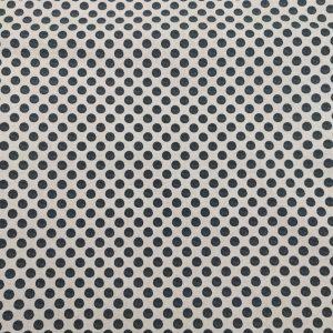 Coton imprimé à pois noirs
