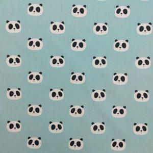 Coton imprimé motifs jolies têtes de pandas