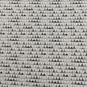 Coton imprimé tipis noirs et blancs