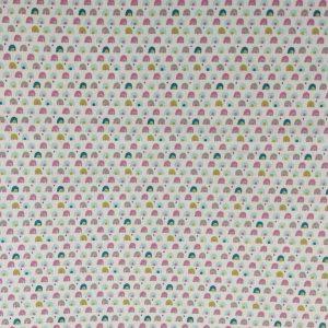 Coton motif coloré