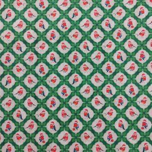 Coton imprimé rouges-gorges thème Noël