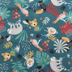 Jersey imprimé les animaux de la jungle