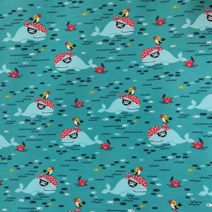 Jersey imprimé baleines et crabes pirates