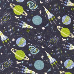 Jersey imprimé motif fusées