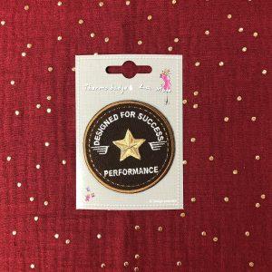 Badge thermocollant «Performance» marron
