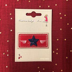 Badge thermocollant «Etoile» rouge/marine