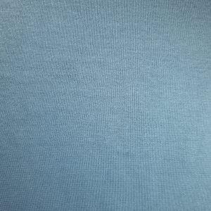 Bord côte bio uni bleu cendré