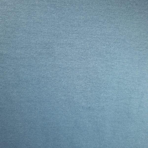 bord cote, jersey, coton, tubulaire, bleu cendré, poussiéreux, bio