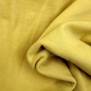 Bord côte bio uni jaune cendré