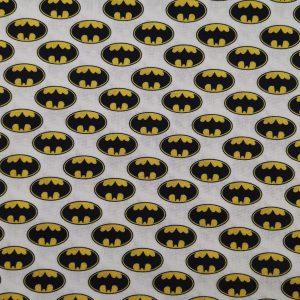 Coton fond blanc logo «Batman»