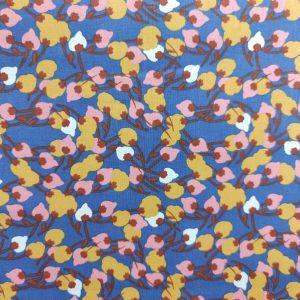 Coton imprimé fleurs de coton