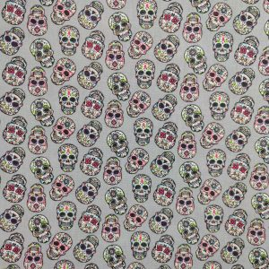 Coton têtes de morts mexicaines