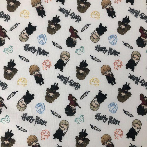 coton, harry-potter, hermione granger, ron weasley, drago malfoy, blanc, noir, rouge, vert