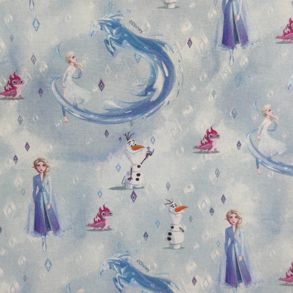 coton, reine des neiges, elsa, bleu, blanc, olaf, bonhomme de neige, princesse
