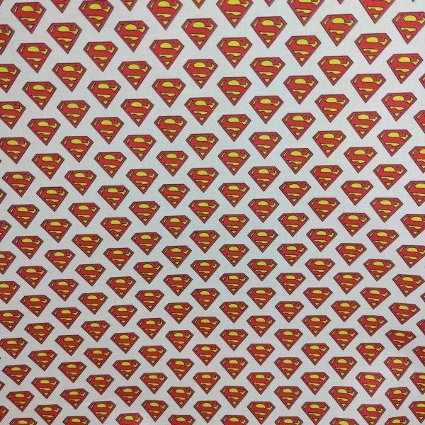 coton, logo superman, blanc, rouge, jaune