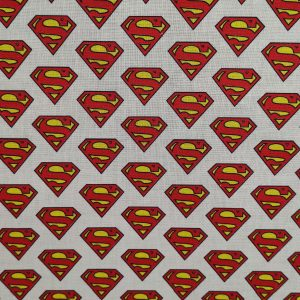 Coton bio logo Superman