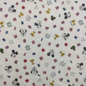 Coton bio Mickey et Minnie