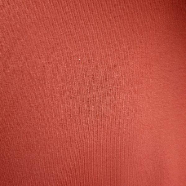 bord cote, jersey, coton, tubulaire, terracotta, bio