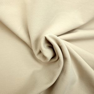 Jersey French Terry uni beige sable bio