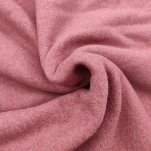 Polaire coton bio vieux rose