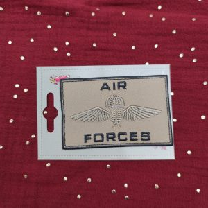 Badge thermocollant Air-force» marron