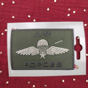 Badge thermocollant «Air-forces» vert kaki