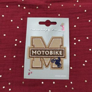 Badge thermocollant «motobike» lettre M