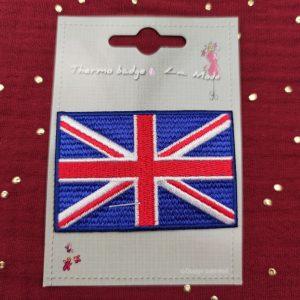 Badge thermocollant drapeau royaume-uni