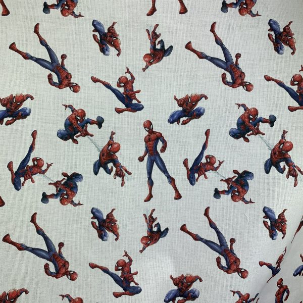 coton, blanc, rouge, bleu, spiderman, l'homme araignée