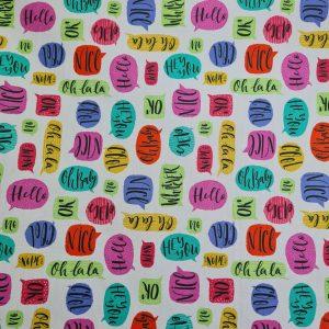 Coton enduit bulles messagères