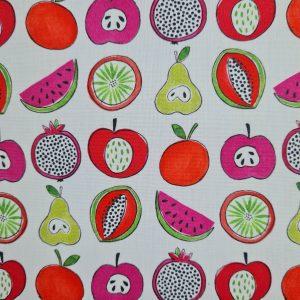 Coton enduit fruits