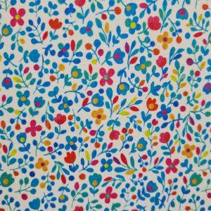 Coton enduit petites fleurs