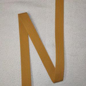 Sangle coton 30 mm jaune moutarde